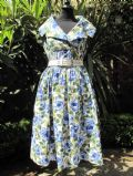 1950's Blue rose print vintage tea dress **SOLD**.